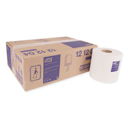 Tork Centerfeed Hand Towel, 2-Ply, 7.6 x 11.8, White, 600/Roll, 6 Rolls/Carton