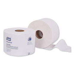 Tork Advanced Bath Tissue Roll with OptiCore, Septic Safe, 2-Ply, White, 865 Sheets/Roll, 36/Carton