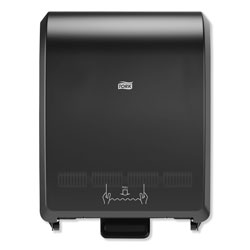 Tork Mechanical Hand Towel Roll Dispenser, 12.32 in x 9.32 in x 15.95 in H80 System, Black