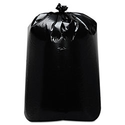 Trinity Low-Density Can Liners, 60 gal, 22 in x 58 in, Black, 100/Carton