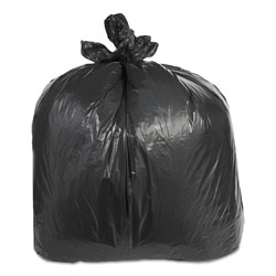 Trinity Low-Density Can Liners, 60 gal, 2.4 mil, 38 in x 58 in, Black, 100/Carton