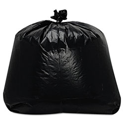 Trinity Low-Density Can Liners, 56 gal, 1.6 mil, 23 in x 47 in, Black, 100/Carton