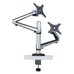 Tripp Lite Dual Full Motion Flex Arm Desk Clamp for 13 in to 27 in Monitors, up to 22 lbs/Arm