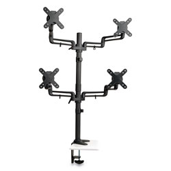 Tripp Lite Quad Full Motion Flex Arm Desk Clamp for 13 in to 27 in Monitors, up to 22 lbs/Arm