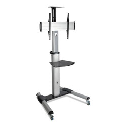 Tripp Lite Mobile Flat/Curved Panel Floor Stand for 32 in to 70 in TVs/Monitors, up to 110 lbs