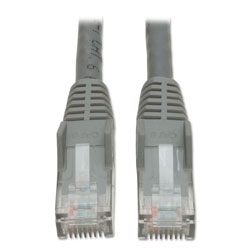 Tripp Lite Cat6 Gigabit Snagless Molded Patch Cable, RJ45 (M/M), 5 ft., Gray