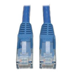Tripp Lite Cat6 Gigabit Snagless Molded Patch Cable, RJ45 (M/M), 10 ft., Blue