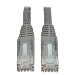 Tripp Lite Cat6 Gigabit Snagless Molded Patch Cable, RJ45 (M/M), 10 ft., Gray