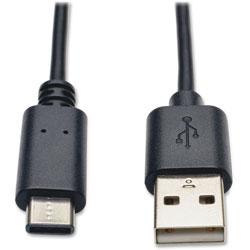 Tripp Lite USB 2.0 Hi-Speed Cable, USB 2. A To C, 3', Black