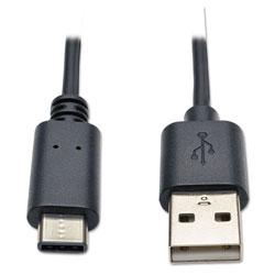 Tripp Lite USB 2.0 Cable, USB Type-A to USB Type-C (USB-C) (M/M), 6 ft.