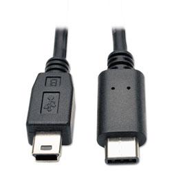 Tripp Lite USB 2.0 Cable, USB 5-Pin Mini-B to USB Type-C (USB-C) (M/M), 6 ft.