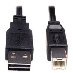 Tripp Lite Universal Reversible USB 2.0 Cable, Reversible A to B (M/M), 6 ft., Black
