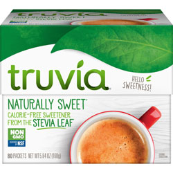 Truvia Natural Sweetener, 1 Gram/Pk, 80/BX, White