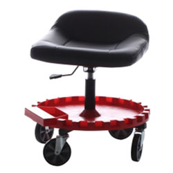 Traxion Work Seat with Gear Tray and 5 in Casters