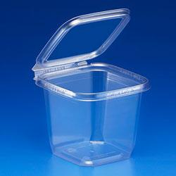 Inline Plastics Safe-T-Fresh DPET 24OZ Sqare Tamper Resistant Hinge Container
