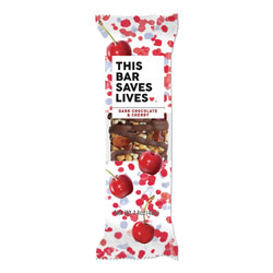 This Bar Saves Lives Snackbars, Dark Chocolate and Cherry, 1.4 oz, 12/Box