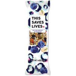 This Bar Saves Lives Snack Bars, Wild Blueberry/Pistachio, 1.4 oz, 12/BX