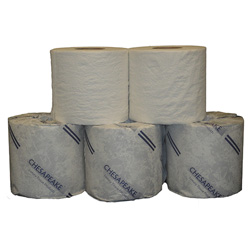 Chesapeake White 2Ply Standard Bath Tissue, 96 Rolls of 500 Sheets