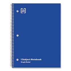 TRU RED™ One-Subject Notebook, 5 sq/in Quad Rule, Blue Cover, 10.5 x 8, 70 Sheets