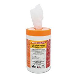 2XL Food Service No Rinse Surface Sanitizing Wipes, 8 x 6, White, 100/PK, 6PK/CT