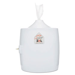 2XL Contemporary Wall Mount Wipe Dispenser, Plastic, 11 in x 11 in x 13 in, White