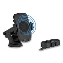 Tzumi Wireless Charging Auto Dashboard Mount, Qi Wireless Charging, Black