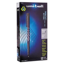 Uni-Ball ONYX Stick Roller Ball Pen, Micro 0.5mm, Black Ink, Black Matte Barrel, Dozen