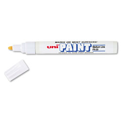 uni®-Paint Permanent Marker, Medium Bullet Tip, White