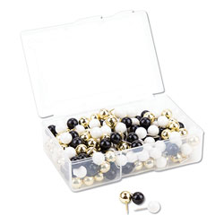 U Brands Fashion Sphere Push Pins, Plastic, Assorted, 7/16 in, 200/Pack