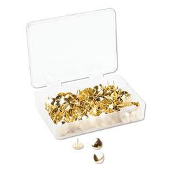 U Brands Fashion Metal Thumbtacks, Metal, Gold, 3/8 in, 200/Pack