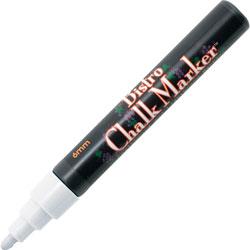 Uchida of America Bistro Chalk Marker,6mm Tip,Erasable,Water-based,White