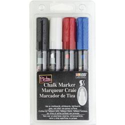 Uchida of America Chalk Marker, Chisel Tip, 4/St, Multi