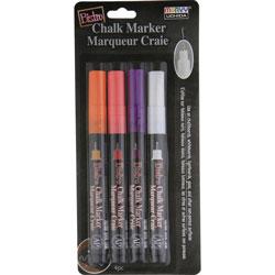 Uchida of America Chalk Marker, Extra-Fine Point, 4/St, Multi
