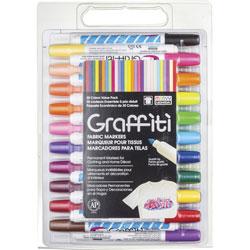 Uchida of America Fabric Marker, Graffiti Tip, 30/St, Multi