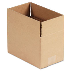 GEN Fixed-Depth Shipping Boxes, Regular Slotted Container (RSC), 10 in x 6 in x 6 in, Brown Kraft, 25/Bundle