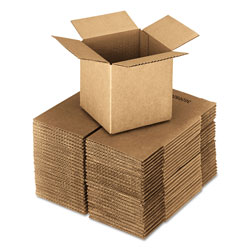 GEN Cubed Fixed-Depth Shipping Boxes, Regular Slotted Container (RSC), 24 in x 24 in x 24 in, Brown Kraft, 10/Bundle