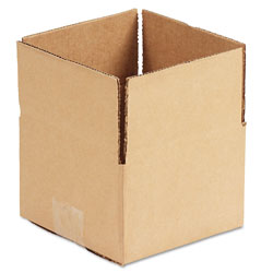 GEN Fixed-Depth Shipping Boxes, Regular Slotted Container (RSC), 6 in x 6 in x 4 in, Brown Kraft, 25/Bundle