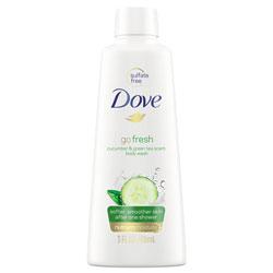 Dove Body Wash, Cucumber and Green Tea, 3 oz, 24/Carton
