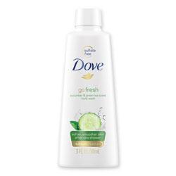 Dove Body Wash, Cucumber and Green Tea, 3 oz