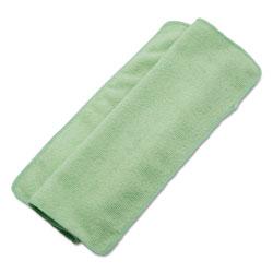 Boardwalk Lightweight Microfiber Cleaning Cloths, Green,16 x 16, 24/Pack