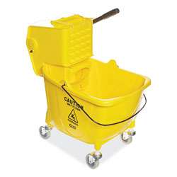 Boardwalk Pro-Pac Side-Squeeze Wringer/Bucket Combo, 8.75gal, Yellow