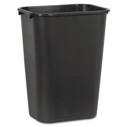 Boardwalk Soft-Sided Wastebasket, 41 qt, Plastic, Black