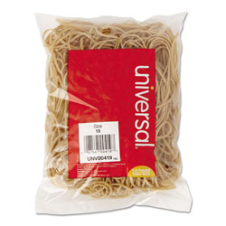 Universal Office Products Rubber Bands, Size 19, 0.04 in Gauge, Beige, 4 oz Box, 310/Pack