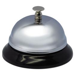 Advantus Call Bell, 3-3/8 in Diameter, Brushed Nickel