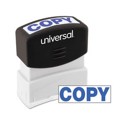 Universal Office Products Message Stamp, COPY, Pre-Inked One-Color, Blue