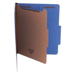 Universal Bright Colored Pressboard Classification Folders, 1 Divider, Letter Size, Cobalt Blue, 10/Box