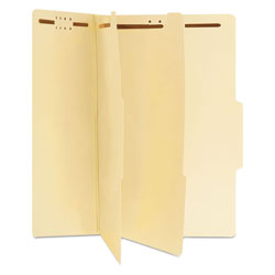 Universal Office Products Six-Section Classification Folders, 2 Dividers, Legal Size, Manila, 15/Box