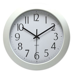 Universal Office Products Whisper Quiet Clock, 12 in Overall Diameter, White Case, 1 AA (sold separately)