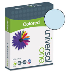 Universal Office Products Deluxe Colored Paper, 20lb, 8.5 x 11, Blue, 500/Ream