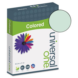 Universal Office Products Deluxe Colored Paper, 20lb, 8.5 x 11, Green, 500/Ream